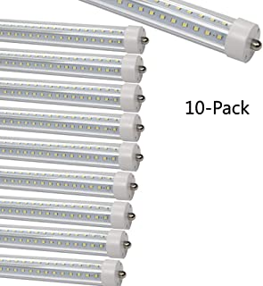 GOCuces 36W T8 4FT LED Tube Light V Shape, Single Pin,AC100-277V, 3600LM 6500K White, Dual-Ended Power,Ballast by Pass Replace to 60W LED Fluorescent Bulbs F48T12 for Freezer,Home,Office 10-Pack