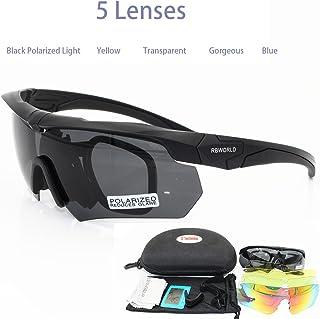8956498f35 HJKLC Polarisé Sport Eyewear Lunettes de Plein air 5 lentilles Lunettes de  Soleil, pêche,