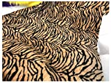 Leichte Kunstpelz Leopard Tiger Print Velboa Wave Stoff