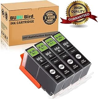 BUBU Bird 564XL Ink Cartridges Remanufactured for HP 564 564 XL for HP Officejet 4620, Photosmart 7510 7520 6520 5510 5514 5520 6515 D7560 C410, Deskjet 3520 3522 Printer (4 Black)