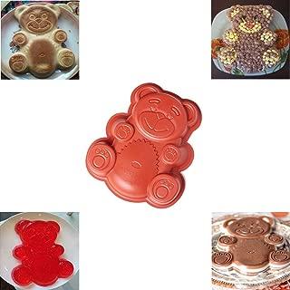 Silicone Bear Cake Pan, Baking Mold Non-stick Silicone Baking Pan Bread Bundt Pan Homemade Cake Decorating Tools