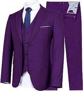 ouxiuli Mens Slim Fit One-Button Nightclub Stylish Printing Party Suit Blazer Jackets