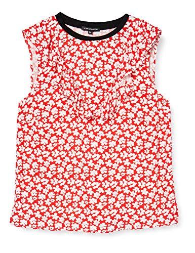 #ONE MORE STORY Damska czerwona bluzka z wzorem w kropki
