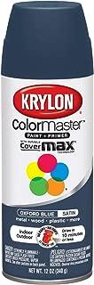 Krylon K05352307 ColorMaster Paint + Primer, Satin, Oxford Blue, 12 oz.