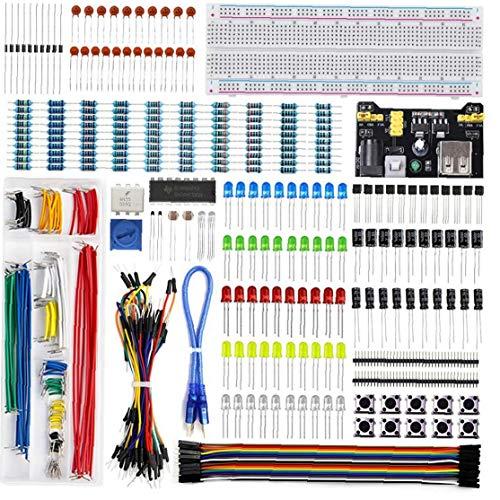 Runfun UNO R3 Projekt Starter Kit Electronics Breadboard Learn Programmierung Component Kit Development Board Kompatibel Mit UNO R3 Elektrische Werkzeuge