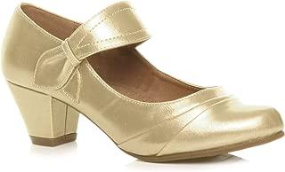 Ajvani Women's Mid Heel Mary Jane Comfort Court Shoes Pumps