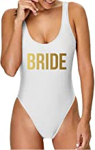 Gifts by PR One Piece Bikini High Cut Bathing Suit for Bride Maid of Honor and Bridesmaid Bachelorette Party