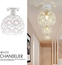 Modern Crystal Ceiling Light Cover Pendant Lampshade Chandelier Home Ornament (White Crystal (Without Light))