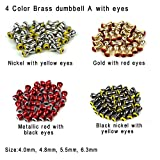 Best Fly Tying Materials - Aventik 25pc Pack Brass Dumbbell Shaped Fish Eyes Review