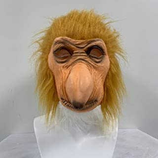 GEDASHU Halloween mask Funny Latex Full Head Animal Proboscis Monkey Fancy Dress Up Carnival Props Party Mask
