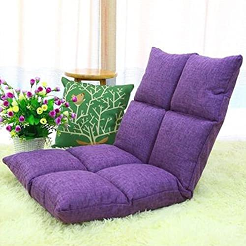 Sitzs e Boden Lazy Man Stuhl Sofa Video Gaming Stuhl Voll einstellbare Sechs-Position Multiangle (Farbe   Purple)