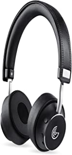 GEG Bluetooth Headphones Rotatable Wireless on Ear Headphone with Powerful Bass,Apt-X Audio Technology,Stereo Sound,21Hours Play time for Android IPad iPod iPhone Windows Phone BlackBerry Black