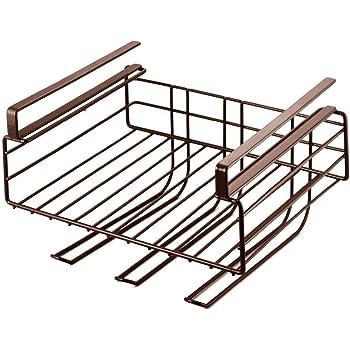 下村企販 キッチン吊り戸棚下 ラック ブラウン 30×25.5×17.5cm 27069