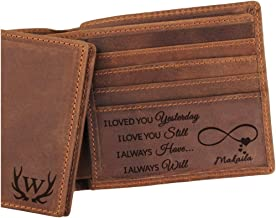 5 Choices, Custom Engraved Wallet, Anniversary Gifts for Men, Personalized Gifts for Men, Husband, Boyfriend, Dad, Son