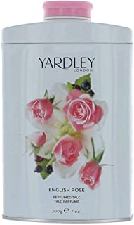 Yardley London Scented Talc Powder, English Rose Scent, 7 Oz/ 200 g