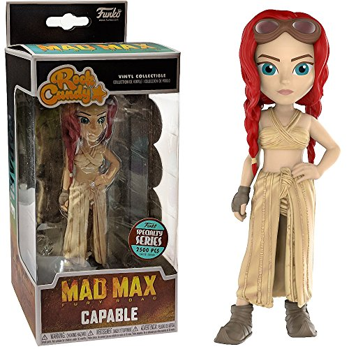 fuoneucenajliis Capable (Specialty Series): Funko Rock Candy x Mad Max - Fury Road Vinyl Figure + 1 Classic Movie Trading Card Bundle [29422]