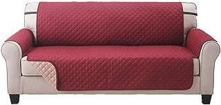 Elaine Karen Deluxe Reversible Extra Wide Sofa Furniture Protector, Burgundy/Tan