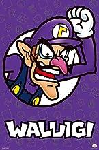 Pyramid America Super Mario Bros Waluigi Nintendo Laminated Dry Erase Sign Poster 12x18