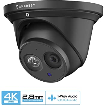 Color Night Vision 200ft IR Night Vision Indoor//Outdoor LNE8950ABW LNE8950BW Lorex 8MP 4K IP Audio Turret // Dome Camera LNE8950A