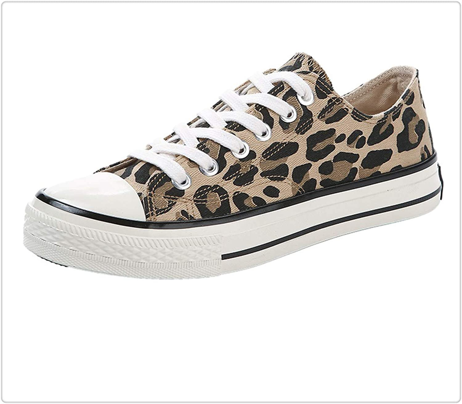 QUGKOP& Fashion Leopard shoes Women shoes Casual Canvas shoes Women Sneakers High-top