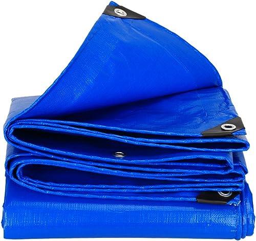 LQQGXL L'épaississeHommest extérieur imperméable à l'eau de Prougeection Solaire imperméable à l'eau de bache de Camion de bache de Tissu résistant à l'usure Anti-corrosif PE, Bleu Bache imperméable à l'