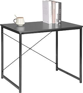 comprar comparacion WOLTU Escritorio de Computadora Muebles de Oficina Mesa de PC Mesa de Oficina de Madera y Acero, con Estante TSB03she Negro