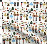 Weihnachten, Nussknacker, Soldaten, Bäume, Sterne Stoffe -