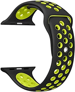 Ozone Soft Silicone Replacement Strap Wristband For Apple Watch 42mm Nike Band Series 1/2- Green