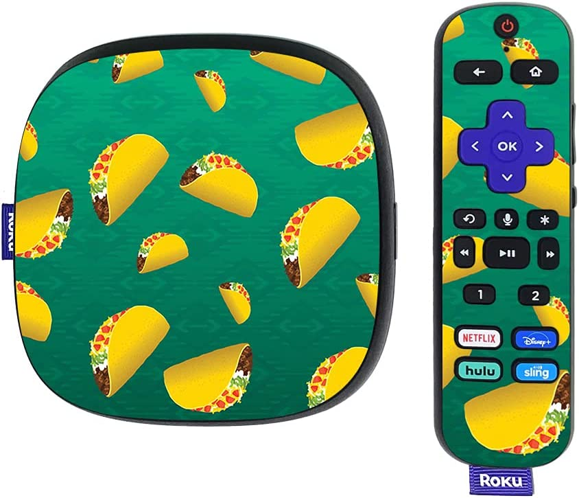 MightySkins Skin Compatible with Roku Ultra HDR 4K Streaming Media Player (2020) - Tacos | Protective, Durable, and Unique Vinyl Decal wrap Cover | Easy to Apply, Remove, | Made in The USA