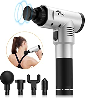Massage Gun, Muscle Massager Massage Gun for Athletes, Pain Relief, Recovery, Hand Held Professional Deep Tissue Percussion Massage Device for Muscles, Back, Neck, Shoulders - Silver Gray