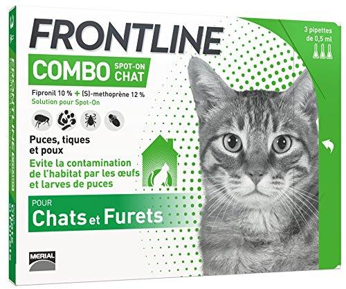 FRONTLINE Combo Chat - Anti-puces et anti-tiques pour chat -...