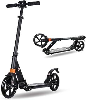 cdsnxore Adult Kick Scooter Big Wheels قابلة للطي مع مقبض طويل قابل للتعديل يدعم 100 رطل للمراهقين / البالغين