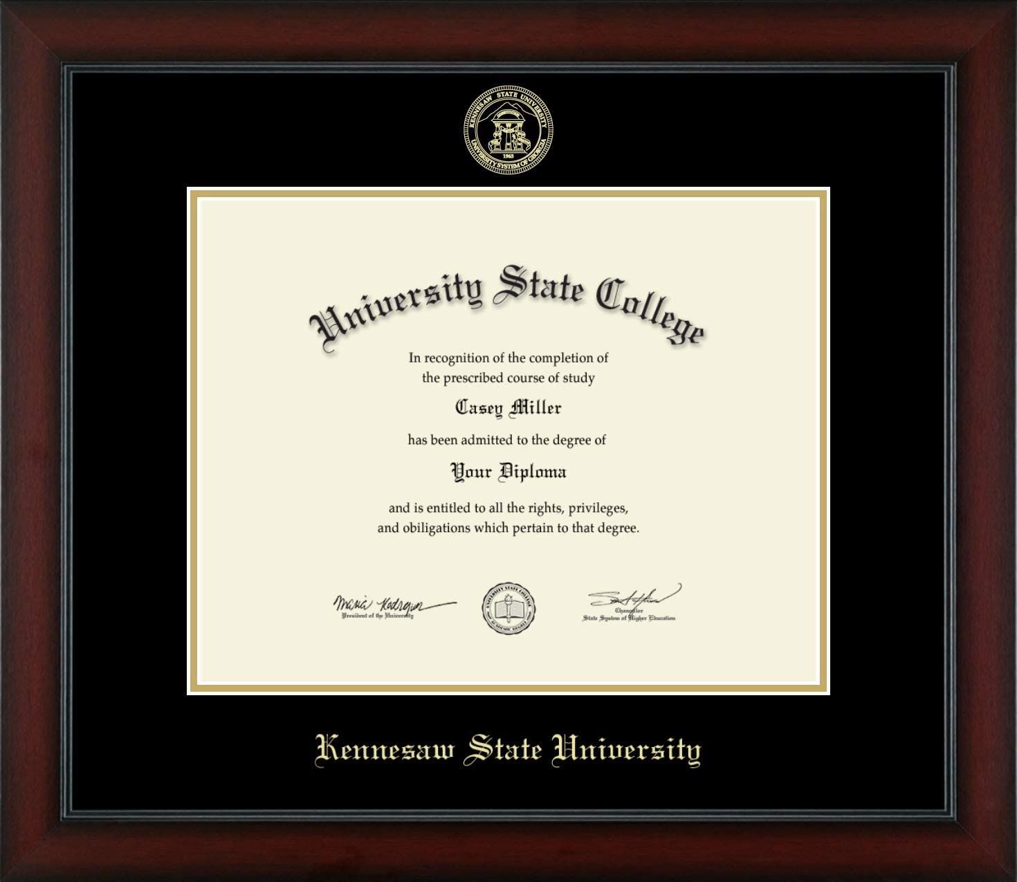 At the price Kennesaw State University overseas - Gold Officially Licensed Embossed