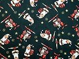 Minerva Crafts Weihnachten GNOME Santa Print Baumwolle