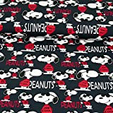 Baumwolljersey Peanuts Snoopy Lizenzstoff Kinderstoffe -