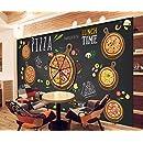 HHCYY Papier Peint Personnalis/é 3D D/écoration De Fond De Restaurant Pizzeria Fond Photo Murale 3D-200cmx140cm