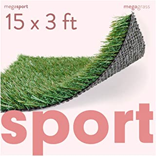 MEGAGRASS Synthetic Sports Grass Turf Mat - Indoor and Outdoor Athletic Turf Rug for Sports and Agility Training in Custom Sizes