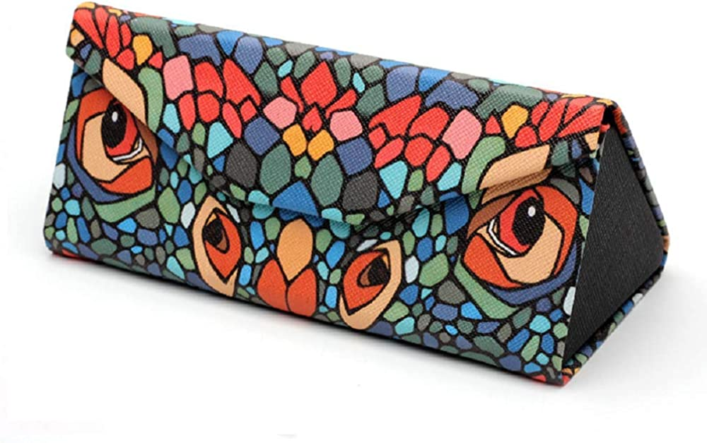 Eyeglass Case with colorful//Triangle Eyeglass Case. (Snake Pattern)