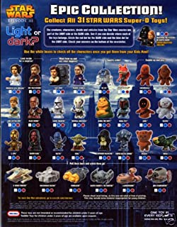 Burger King Star Wars Episode III (Set of 31) Epic Collection