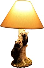 Black Bear and Cub Birch Tree Table Lamp With Shade