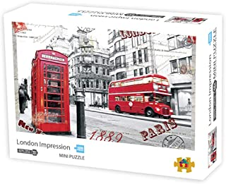 Puzzles 1000 Pieces for Adults-Impressions of London Micro Jigsaw Puzzles Decoration Your Home