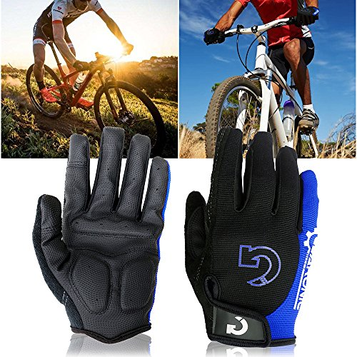 GEARONIC TM Cycling Bike Bicycle Motorcycle Shockproof Foam Padded Outdoor Sports Half Finger Short...
