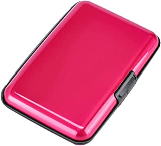 Elfish Mini RFID Aluminum Wallet Credit Cards Holder Metal ID Case for Men Women