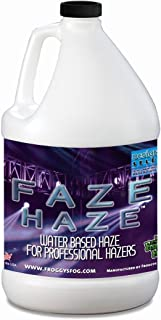 Froggys Fog - Faze Haze – Water Base for Use in Titan Hazers, Antari Fazers, Chauvet Hazers, Base Hazer Pro, Unique 2.1 and Martin Hazers - 1 Gallon