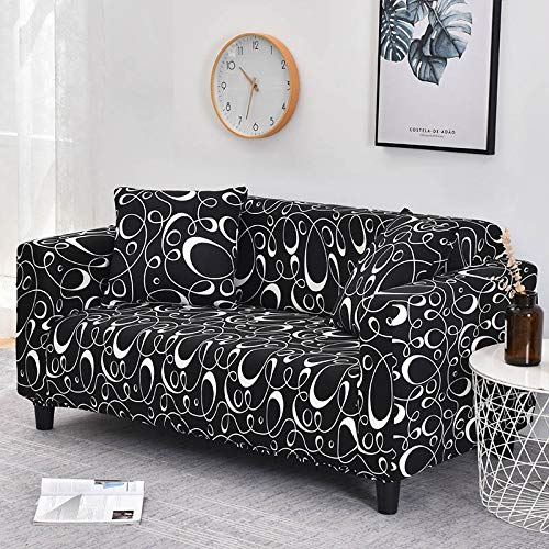 WXQY 24 Colores para Elegir Funda de sofá Asiento elástico Fundas de sofá loveseat sillón funiture Fundas sofá Toalla 1/2/3/4 plazas A25 4 plazas