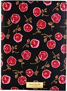Kate Spade Hazy Rose Imogene Passport Holder, Black (Rose printed)