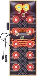 YXIAOL Colchoneta Masaje Cuerpo Completo con Calor, 10 Motores Vibración Cojín Colchón Masaje, Cojín Masajeador Cuerpo Completo Aliviar Dolor Cuello Espalda Cintura Y Piernas