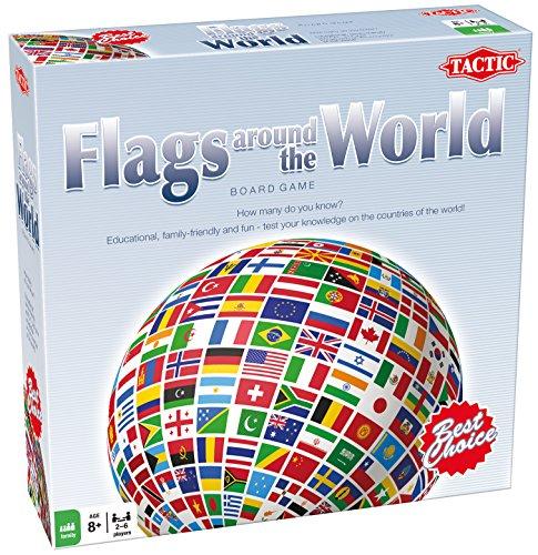 Unbekannt Flaggen der ganzen Welt - Testen Sie Ihr Wissen - Das Brettspiel - Tactic Spiele