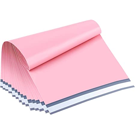 UCGOU Poly Mailers 19x24 Inch Light Pink 50 Pack Extra Large Shipping Bags Strong Thick Mailing Envelopes Self Seal Adhesive Waterproof and Tear Proof Boutique Postal for Clothing,Quilt and More