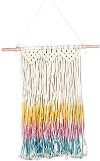 NiceCore Tassel tapisserie macramé décoration murale ethnique coton Hanging avec Tassel coloré pour le salon Beedroom Déco...